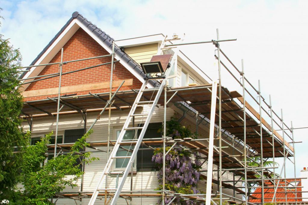 Exterior renovation of a modern house
